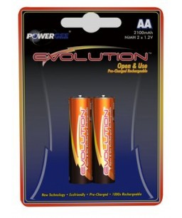 PILE EVOLUTION AA 2100 MAH (2X1,2V)