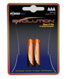 PILE EVOLUTION AAA 800 MAH (2X1,2V)