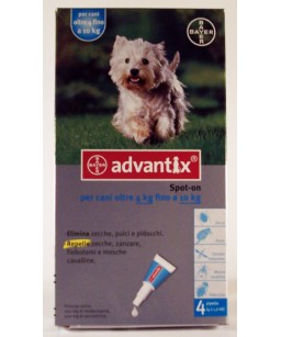ADVANTIX CANI 4-10 KG 4X1 ML