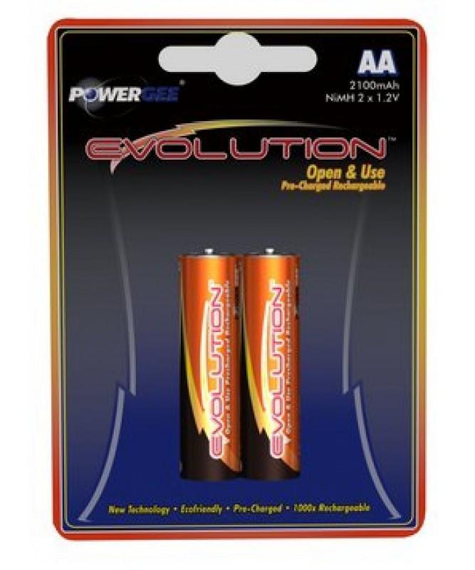 PILE EVOLUTION AA 2100 MAH (2X1,2V)