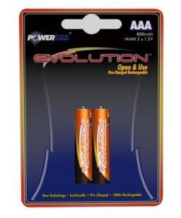 PILE EVOLUTION AAA 800 MAH (2X1,2V)