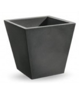 VASO SINGLE QUADRATO CM. 35X35 (COLORE ANTRACITE)