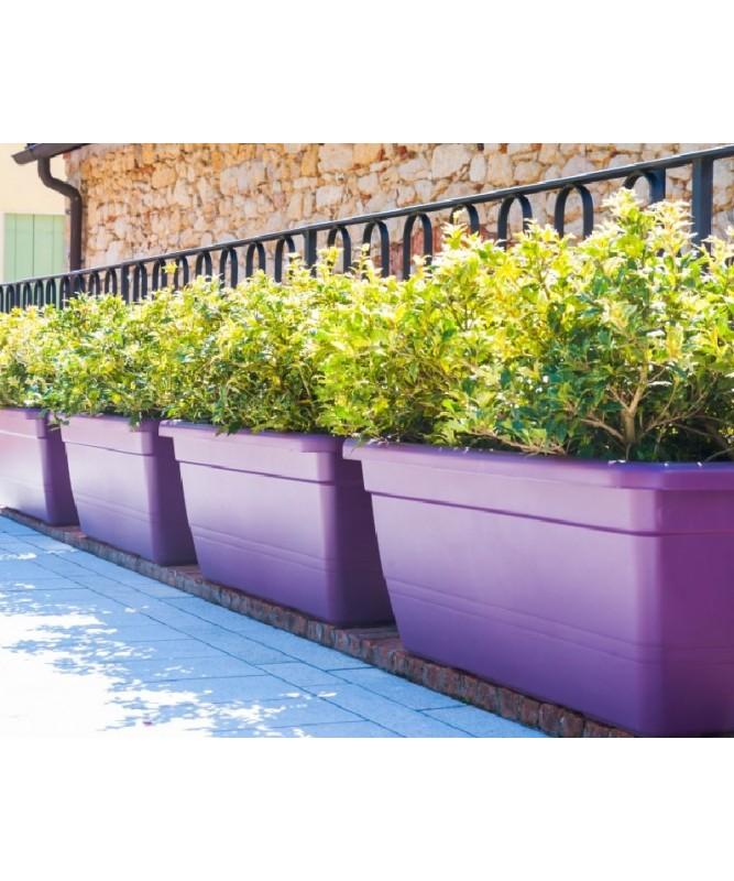 Anthea fioriera rettangolare 50 cm colore terracotta