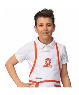 GREMBIULE JUNIOR MASTERCHEF BIANCO DERBY CM 150