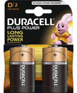 PILA DURACELL PLUS POWER (D) TORCIA PZ.2