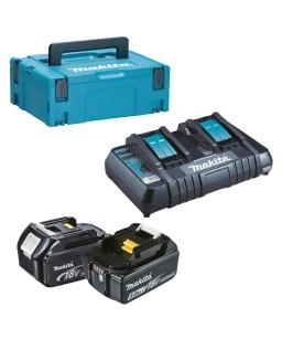 KIT ENERGY BL1850 (2 BATTERIE 18V 5AH+DC18RD+V)